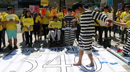 540 days of prison to every conscientious objector